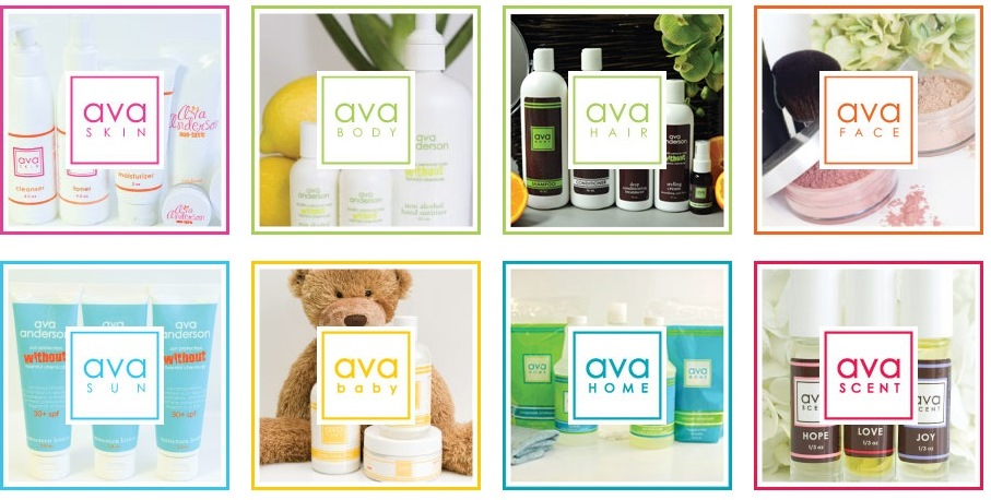 ava anderson products